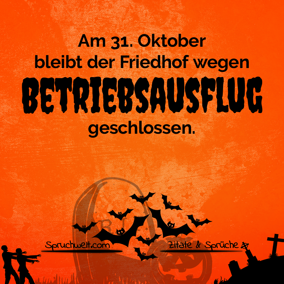 Schaurig schönes Halloween: Friedhof wegen Betriebsausflug ...