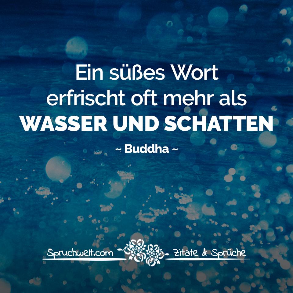 sprüche mit wasser Ein süßes Wort erfrischt oft mehr als Wasser und Schatten   Buddha  sprüche mit wasser